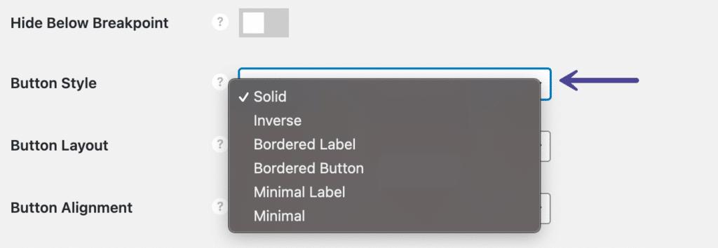 Novashare button style