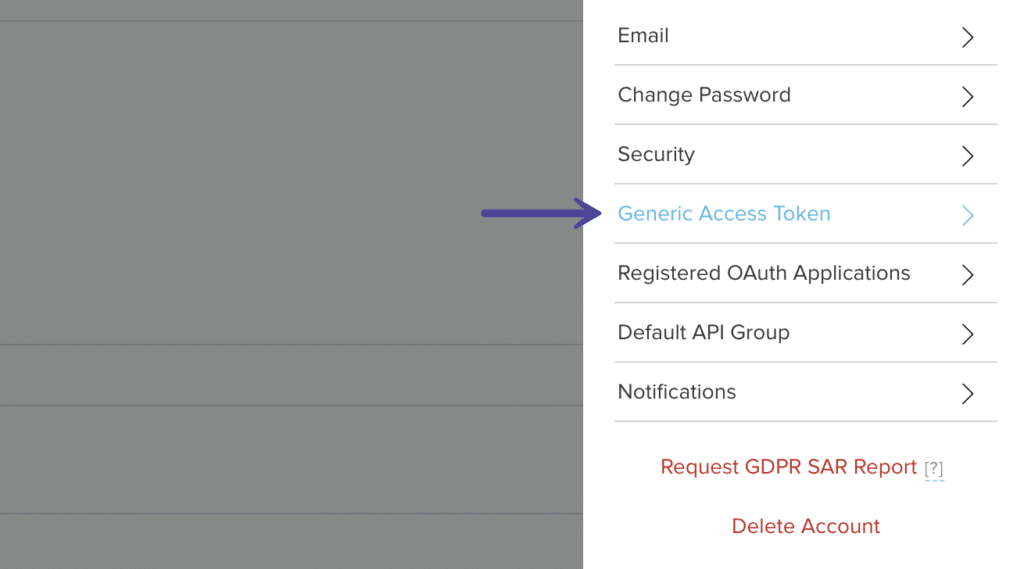 Bitly profile Generic Access Token