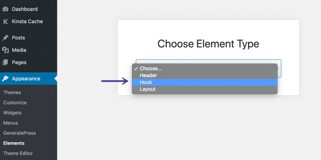 GeneratePress element hook