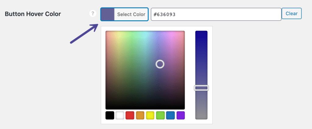 Novashare button hover color