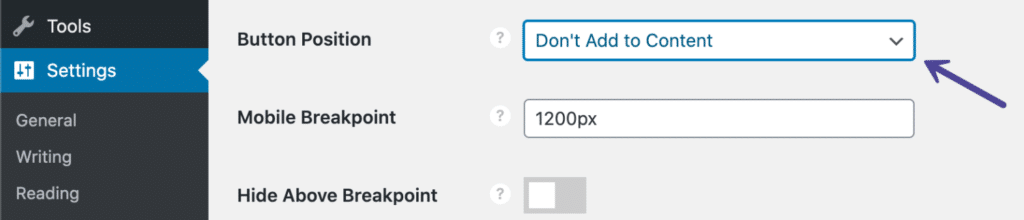 Novashare Button Position (Don't Add to Content)