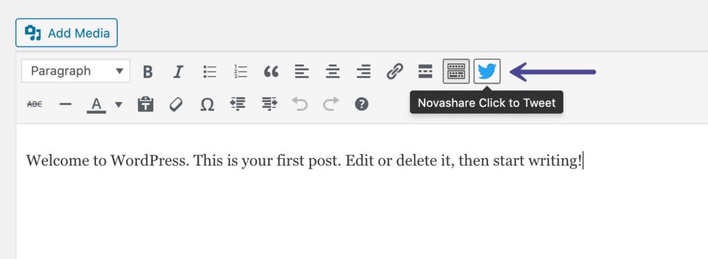 Novashare Click to Tweet