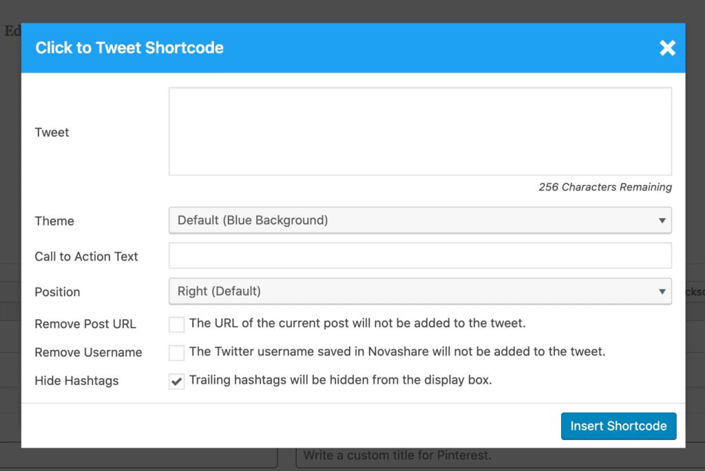 Click to Tweet shortcode