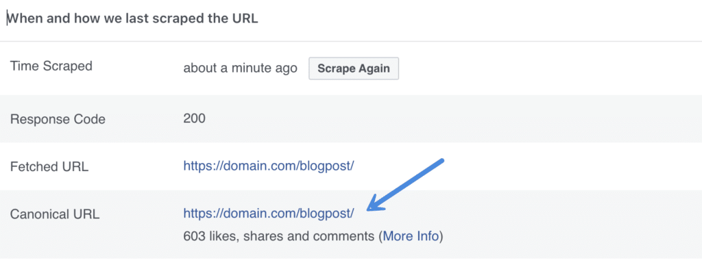 Facebook share counts with the debugger