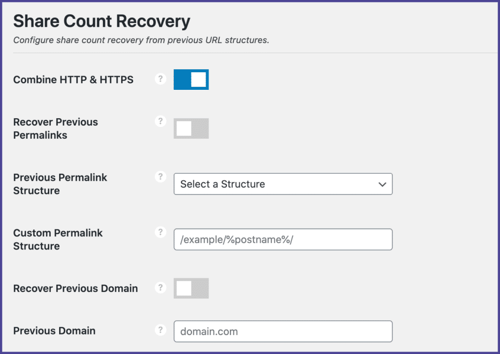 Novashare social share count recovery